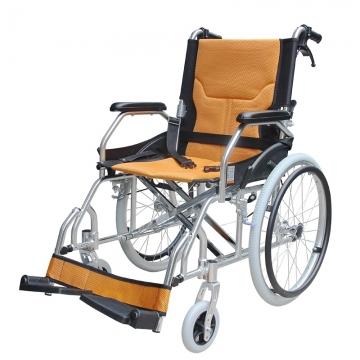 铝质看护轮椅 老年人轮椅 超轻老人代步车 残疾人 便携铝合金 手推车