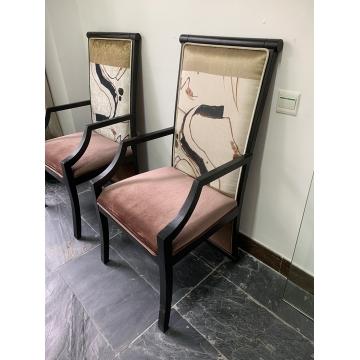 【捡漏】中式实木餐椅两张一套-展厅样板特价销售