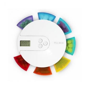 7彩虹圆一周便携式计时老人服药智能定时提醒电子药盒